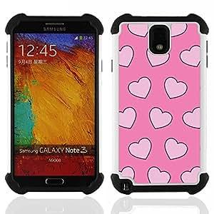 For Samsung Galaxy Note3 N9000 N9008V N9009 - love valentines pink hearts pink xoxo Dual Layer caso de Shell HUELGA Impacto pata de cabra con im????genes gr????ficas Steam - Funny Shop -