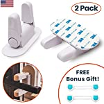 Child Proof Door Lever Lock – Babies & Kids Safety For Doors Cabinets & Handles Entry Proofing with 3M Adhesive, No Tools Key or Drilling Needed, BONUS Cabinet Straps Included! (2 Pack)