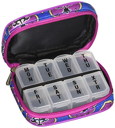 Fashion Smart Womens Pill and Vitamin Travel Pill Box Organizer (Smart Pill)