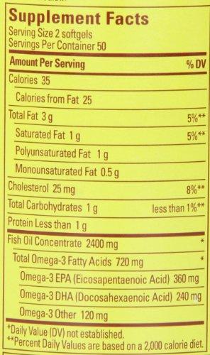031604013288 - Nature Made Fish Oil Omega-3, 1200mg, 100 Softgels carousel main 1