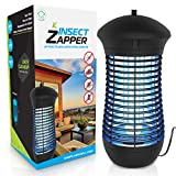 Electric Bug Zapper Mosquito Trap - Mosquito Killer with Insect Zapper Outdoor/Indoor Hook, 18W UVA Bug Zappers Lamp and 4000V Mosquito Zapper Grid