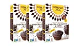 Simple Mills Almond Flour Mix, Chocolate Muffin & Cake, 10.4 oz, 3 count