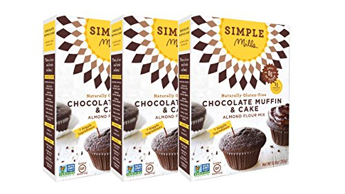 Simple Mills Chocolate Muffin & Cupcake Mix - Pack of (Chocolate Organic Cake)