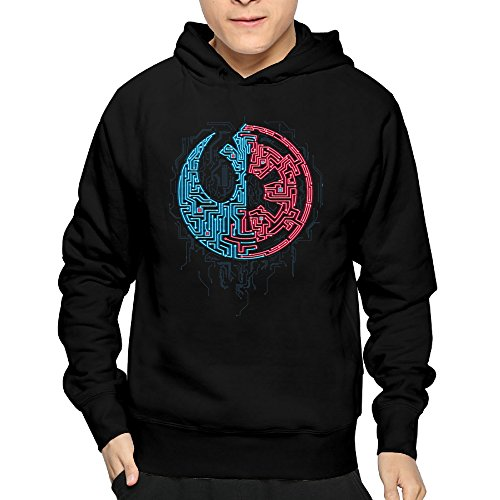 Men's Galaxy Divided Cute Hoodie Sweatshirt 100% - Date Is What Day Of Valentine