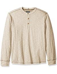 Men's Carbon Long Sleeve Jersey Henley Shirt
