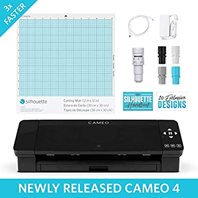 Bluetooth Silhouette America CAMEO-3-AMAZON-BDL-3 Touch Screen Vinyl Starter Kit with PixScan Cutting Mat by Silhouette America
