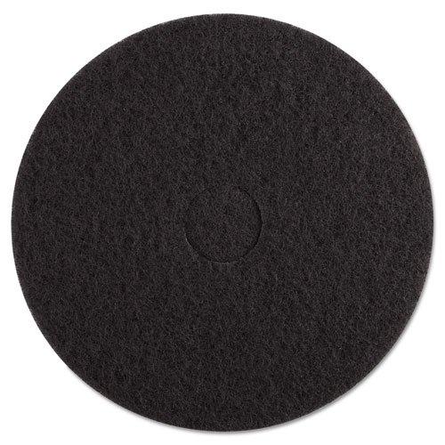 "Standard Black Floor Pads, 17"" dia, Black,"