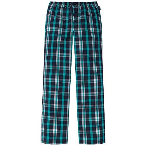Schiesser Jungen Schlafanzughose Mix&Relax Web Pants, Blau (Nachtblau 804), 152