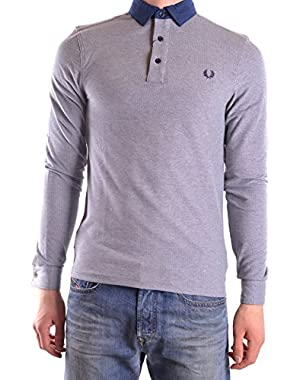 Men's MCBI128192O Grey Cotton Polo Shirt