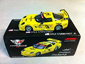 Dale Earnhardt Sr #3 Dale Earnhardt Jr Andy Pilgrim Kelly Collins 1/43 Scale Clean Non-Raced Version 2001 Corvette C5R GM Goodwrench Service Plus Daytona Rolex 24 Hour Race Action Racing Collectables Limited Edition