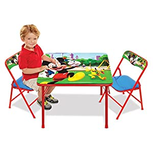 Mickey Mouse Table & Chairs Set For Kids – Furniture