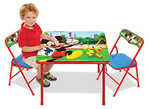 (Mickey Mouse Table & Chairs Set For Kids - Furniture)