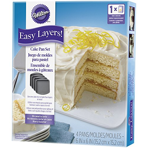 Wilton 2105-5748 4 Piece Easy Layers Square