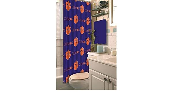 Amazon.com: NCAA Clemson University Decorative Bath Collection Shower  Curtain: Home U0026 Kitchen