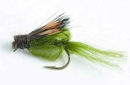 per 1 dozen Size #16-18 combo Hand Tied Olive Spinner Sparkle Trout Flies