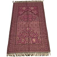 Great Quality Islamic Prayer Rug Mihrab Rose Design Excellent Quality Janamaz Sajjadah Muslim Namaz Seccade Turkish Prayer Rug (Pink)