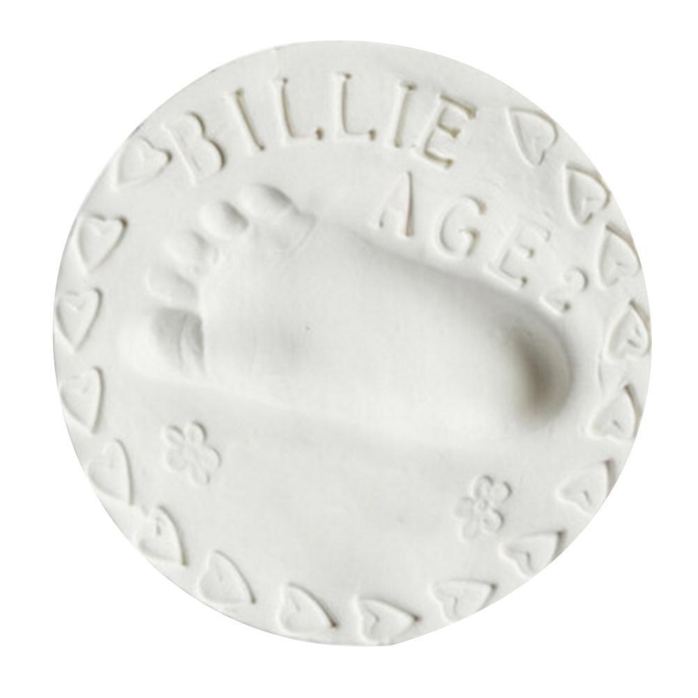 Botrong Baby Air Drying Soft Clay Handprint Footprint Imprint Casting Fingerprint 50g (White)
