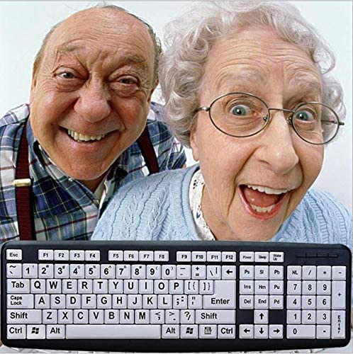 107 Keys 44X13cm Eye Protection USB Mute Wired Keyboard Large Student Keyboard Prevent Myopia LXDMH Elderly Keyboard