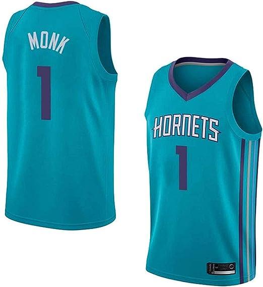 XSJY Hombres Jersey - NBA Charlotte Hornets # 1 Malik Monk Bordado De Malla Alero Camisa, Fresco Y Transpirable Tejido Retro Deportes Camisetas,A,L:175~180cm/75~85kg: Amazon.es: Hogar