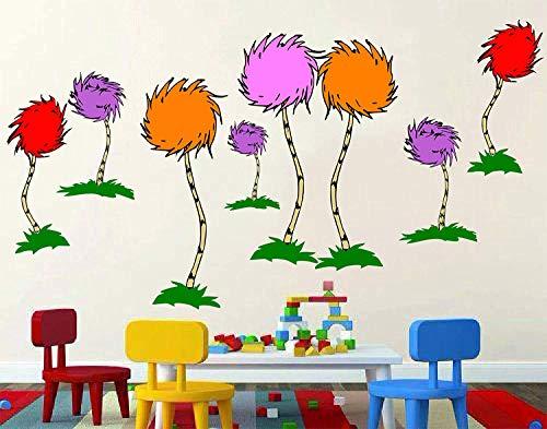 Dr. Seuss The Lorax, truffula tree 3D Window View Decal Graphic WALL STICKER Art Mural. Self adhesive Graphic Art Mural