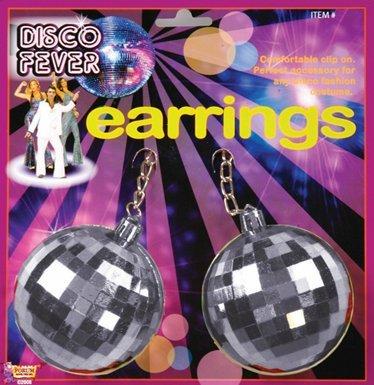 Disco Ball Girl Costume (Forum Novelties Jumbo Disco Ball Earrings)