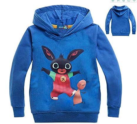 Regalo per Ragazzi Bambina T-Shirt Unisex-Bambini Character Top Bing Bunny T-Shirt Bambino Maglietta di Cotone Manica Lunga| Magliette E T-Shirt per Bambino