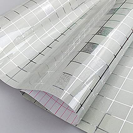 New 5Meter PVC Wall Sticker Bathroom Waterproof Self Adhesive Wallpaper  Kitchen Mosaic Tile Stickers For Walls