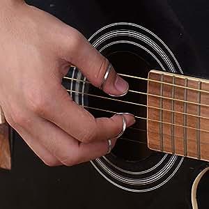 bronze stainless steel metal guitar finger picks unique ring style picks thumb pick. Black Bedroom Furniture Sets. Home Design Ideas