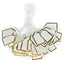 ULTNICE 500pcs Paper Tag Price Label Tag with Hanging String for Jewelry Watch Sale Display