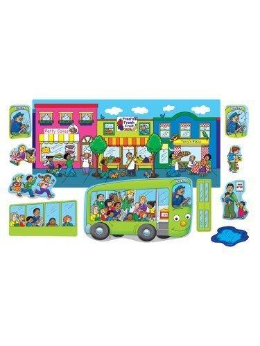 Wheels on The Bus Felt Figures for Flannel Board Board Board Stories by Little Folk Visuals 3d4e04