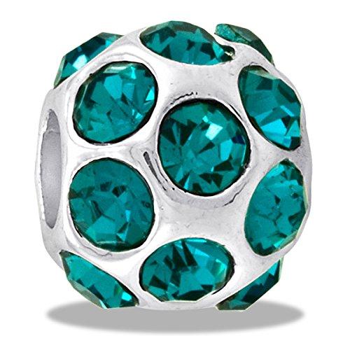 DaVinci Bead December CZ Ball Birthstone - Jewelry Bracelet Memories Beads DB46-1-DAV