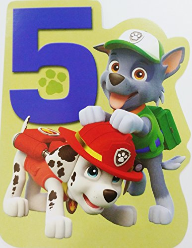 5th Birthday Card (Paw Patrol Dogs - Rocky and Marshall Are Excited to Say