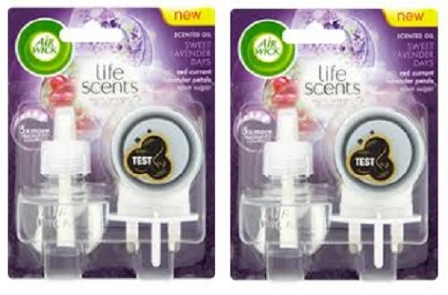 2 x Airwick Life Scents Plug-in Units + Refills (Sweet Lavender Days) Air...