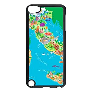 Italy Map iPod Touch 5 Case Black Tlfzz