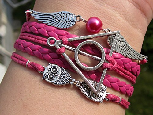 potter-legendary-inspired-bracelet-deathly-hollows-owl-snitch-charms-with-rose-carmine-rope
