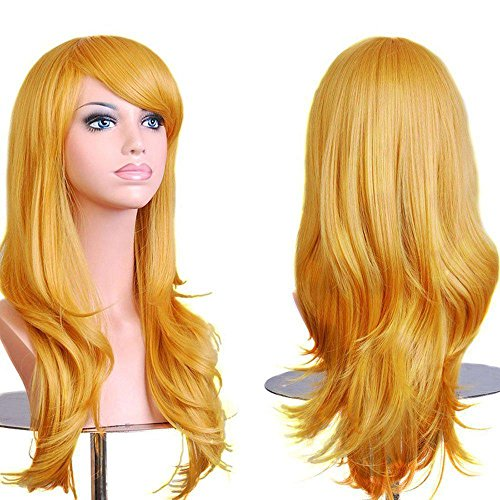 Premium wigs liap Anime cosplay wig hair color in high temperature wire , yellow (Halloween Store In Orange County)