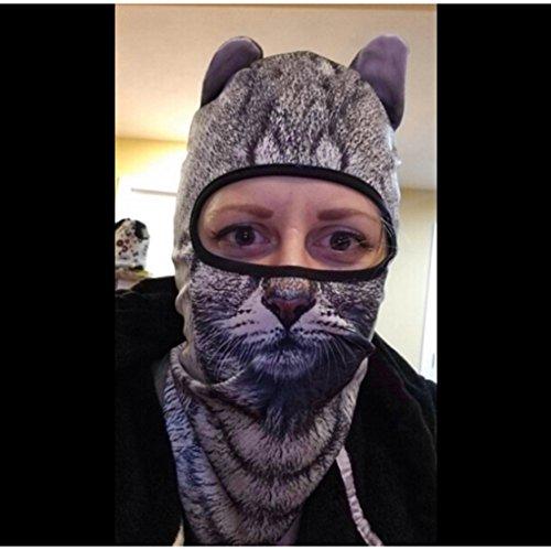 Outgeek Cat Mask, Women Men Balaclava Summer Full Face Hat Animal Ears Sports Helmet Climbing Fishing Cap by Outgeek (Image #2)