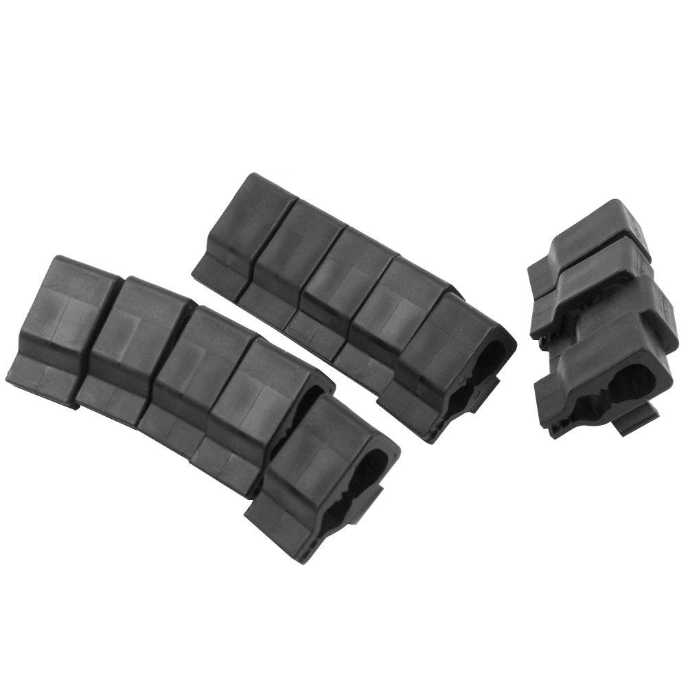 WINOMOゴルフクラブバッグクリップonクランプホルダーパターオーガナイザー(ブラック) – 14ピース   B072BPM43N