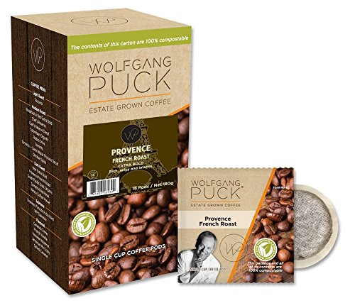 Gram 18k Box (Wolfgang Puck Coffee, Provence, French Roast, 9.5 Gram Pods, 18-Count (Pack of 3))
