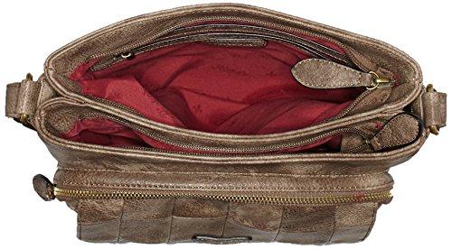 Rieker H1333 - Borse a spalla Donna, Braun (brasil), One Size