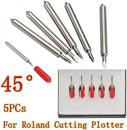 5 Cuchillas de Corte DE 45 Grados GCC para Cortar Plotter de Vinilo, Cuchillas para Cortador de Roland: Amazon.es: Electrónica