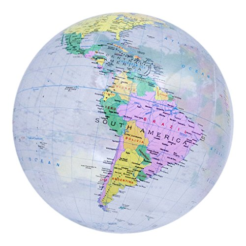 Planet Earth Inflatable Political Globe -Dry erase compatible! (Crystal Clear - 16 inches)