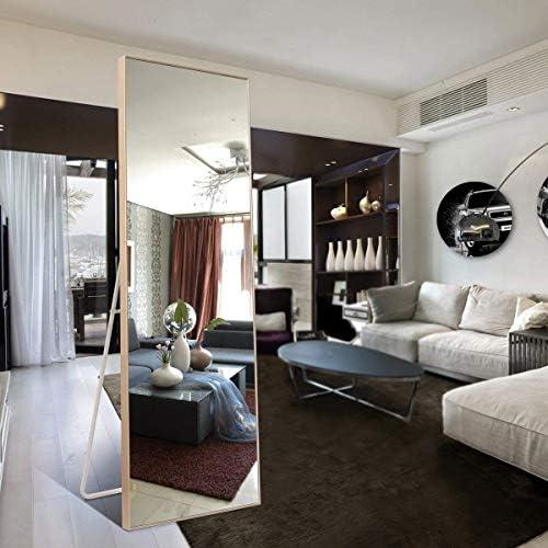 Trico-op 65 x24 Rectangular Bathroom Full Length Floor Mirror Standing or Hanging 65 X24 Gold
