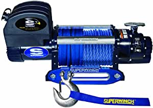 Superwinch 1695201 Talon 9.5SR, 12 VDC winch, 9,500 lb/4,309 kg capacity with hawse fairlead & synthetic rope