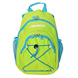 ZippyRooz Toddler & Little Kids Extra Small Hiking Backpack for Boys and Girls (Green & Blue 2.0)