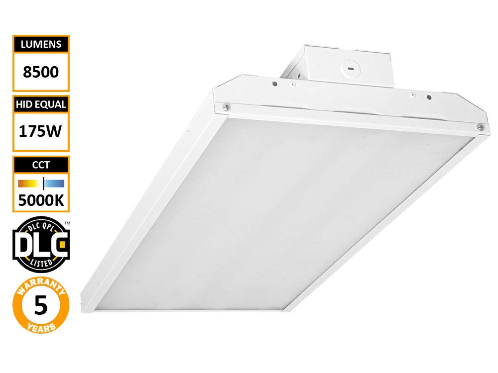 Diva Light 2' LED Linear High Bay Shop Light Fixture 65 Watts [250W Equivalent] 8515 Lumens Commercial Grade Warehouse Area Indoor Industrial Lights DLC Premium 4.2 5000K … (65)