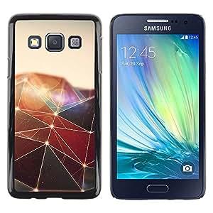 Be Good Phone Accessory // Dura Cáscara cubierta Protectora Caso Carcasa Funda de Protección para Samsung Galaxy A3 SM-A300 // Polygon Triangle Design