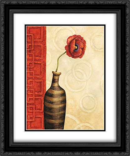 Rouge I 2X Matted 20x24 Black Ornate Framed Art Print by Corbin, Delphine