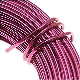 BeadSmith WCR-4115 11.8m Aluminum Craft Wire, Fuchsia Pink, 12 gallon/39'