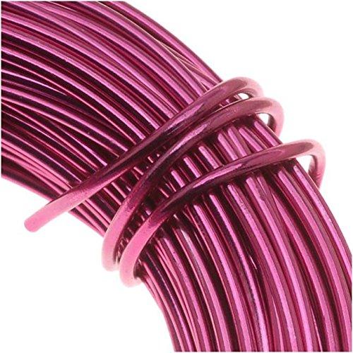 Beadsmith WCR-4115 11.8m Aluminum Craft Wire, Fuchsia Pink, 12 gallon/39